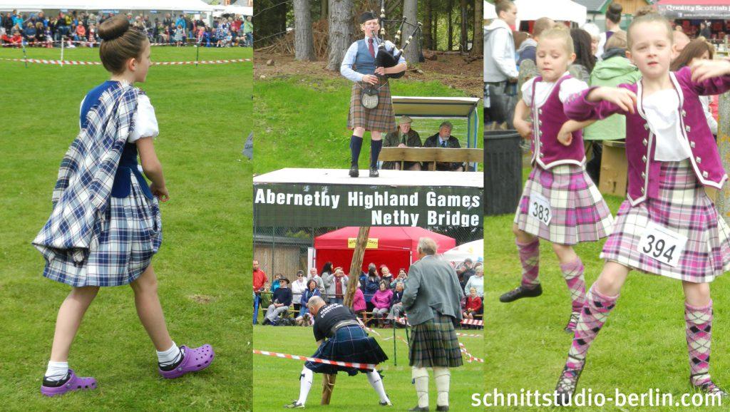 """Highland Games in Nethy Bridge mit Wettkämpfen im Tanzen, Dudelsackspielen, Baumstämmewerfen und anderen """"seltenen""""Sportarten"""