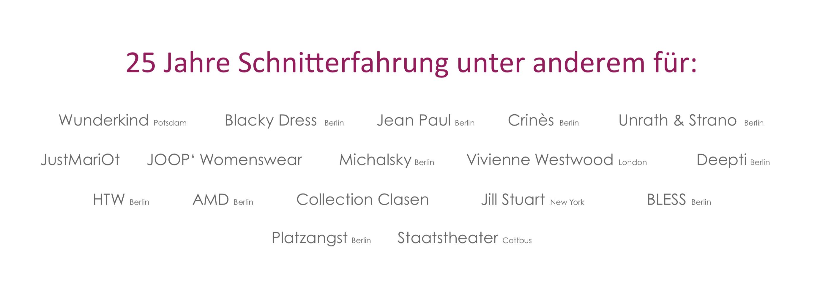 Schnittstudio Berlin Referenzen